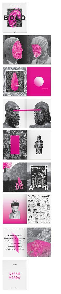 ooh la la pink and black branding
