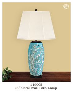 Delectably Yours Ocean Coral Beach Themed Lamp