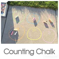 Counting Chalk {We are newly obsessed with counting over here! And what better place then outside?? I got the idea from @playingtolearn!} . . . #earlylearning #earlyeducation #preschoolathome #preschoolwithmommy #toddleractivity #preschoolactivity #toddlercounting #todderfun #preschoolcounting #preschoolfun #funlearning