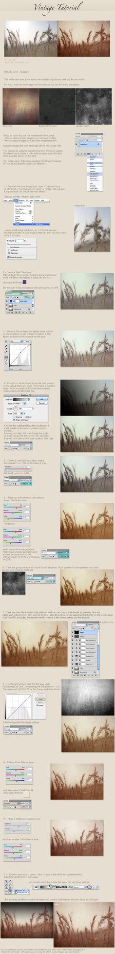 vintage tutorial by `night-fate on deviantART