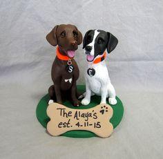 Custom Dog Wedding Cake Topper! www.laurievalko.com