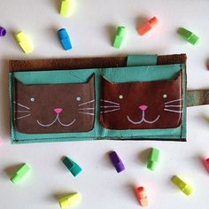 Handmade Leather Cat Wallet