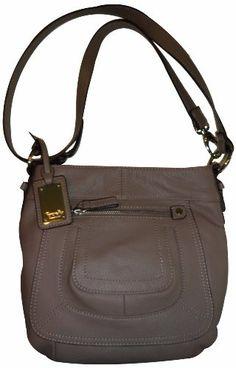 Women s Tignanello Purse Handbag Pebble Leather X-Body Shoulder Stone  Hermes Wallet 2a4eb106b7605