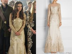 """In the episode 2x03 (""""Coronation"""") Lady Kenna wears this Notte by Marchesa Embroidered Tulle Gown($1,195)."""