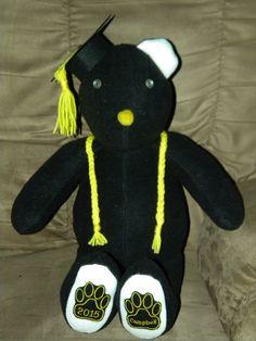 Graduation Beary Bear by MyBearyBears on Etsy