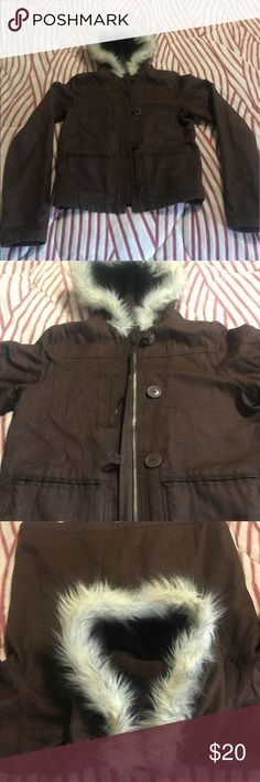 Anchor Blue jacket with fur rim hood size small Only worn a handful of time! This gorgeous jacket sat in the back of my closet. Time for spring cleaning (in the winter 😁) Tilly's Jackets & Coats Pea Coats