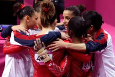 I love that the Fab Five are such a team #gymnastics