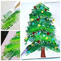 weihnachten basteln 15 Fun Christmas Crafts for Kids Christmas Art Projects, Christmas Tree Painting, Painted Christmas Ornaments, Christmas Tree Crafts, Preschool Christmas, Christmas Activities, Christmas Fun, Holiday Crafts, Christmas Crafts For Kindergarteners