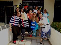 Halloween Alice in Wonderland characters Homemade costumes. Halloween Alice In Wonderland, Alice In Wonderland Characters, Holiday Costumes, Homemade Costumes, Dress Up, Costume