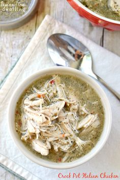 Crock Pot Italian Chicken | Lemon Tree Dwelling