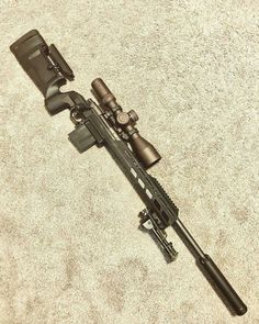 Regranned from - We've had a ton of people ask to see the Bravo/Enclosed Forend combo with a barreled action so here you go! Our Enclosed Forend should be available within the next week! Weapons Guns, Airsoft Guns, Guns And Ammo, Sniper Gear, Sniper Rifles, Bushcraft, Survival Rifle, Military Guns, Firearms