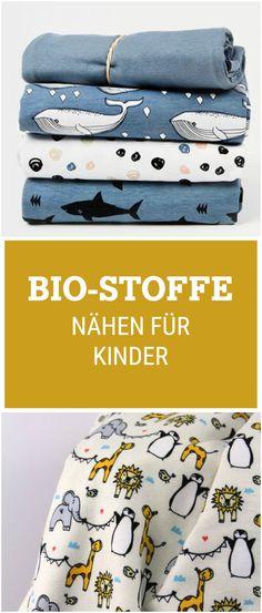 Entdecke die neuen weichen Bio Stoffe von unseren Verkäufern: Jersey Stoffe sind perfekt fürs Nähen für Kinder / diy sewing essentials: organic fabric, jersey via DaWanda.com