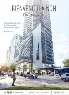 La 1° etapa de la #TorreMixUseNQN ocupará 23.600 m2 y estará conformada por el Hilton Neuquen y Garden Tower Residences. Conocela en: www.gtrneuquen.com.ar