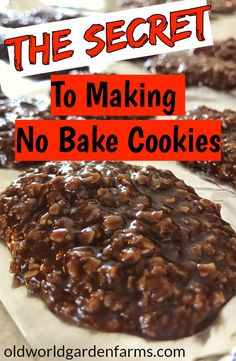 Bake Cookies The Secret to making the PERFECT No Bake Cookie. Chocolate and Peanut Butter instructions included. The Secret to making the PERFECT No Bake Cookie. Chocolate and Peanut Butter instructions included. Oatmeal No Bake Cookies, Easy No Bake Cookies, Chocolate Oatmeal Cookies, Yummy Cookies, Chocolate Cake, Cake Cookies, Chocolate Chips, Peanutbutter No Bake Cookies, No Bake Coconut Cookies