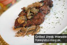 Grilled Steak Marsala