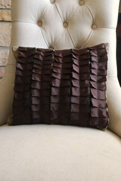 Gorgeous pleated pillow