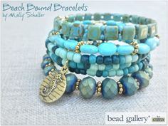 Crafting a Life in Indiana's @missmollys created Beach Bound bracelets for the Pretty Palettes blog hop and featuring Bead Gallery beads available at @michaelsstores #madewithmichaels