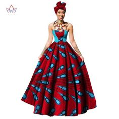 Cheap dress maxi, Buy Quality womens clothing directly from China party dresses Suppliers: Womens African Dress Dashikis Print Ball Gown Party Dress Maxi and Strapless Women Clothing with Free Headwear Plus Size Long African Dresses, African Print Dresses, African Fashion Dresses, Fashion Outfits, Fashion Ideas, Party Dresses For Women, Summer Dresses, African Print Clothing, African Clothes