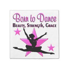 BORN TO DANCE STANDARD COCKTAIL NAPKIN http://www.zazzle.com/mysportsstar/gifts?cg=196655264925785682&rf=238246180177746410  #Dancer #Dancing #Dancergifts #Ballet #Ballerina #Dancerpartygoods #Ballerinaparty