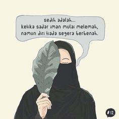 Quotes Sahabat, Quran Quotes Love, Cartoon Quotes, Islamic Love Quotes, Islamic Inspirational Quotes, Muslim Quotes, Text Quotes, Woman Quotes, Life Quotes