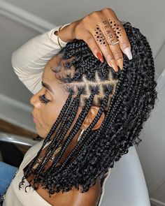 "#TeamNatural on Instagram: ""details. 📸 @pearlthestylist_ 🤎💛🧡"" Black Girl Braided Hairstyles, African Braids Hairstyles, Black Women Hairstyles, Small Box Braids Hairstyles, Braided Ponytail Hairstyles, Little Girl Hairstyles, Baddie Hairstyles, My Hairstyle, Cute Hairstyles"