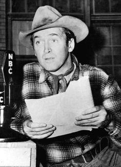 """Jimmy Stewart playing his role in """"Six Shooter"""" a short-lived western radio show."""
