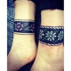 12 Classy Cuff Tattoos- 12 Classy Cuff Tattoos Ankle Cuff by Rich Hadley - Ankle Cuff Tattoo, Arm Wrap Tattoo, Ankle Tattoo Cover Up, Wrist Band Tattoo, Tiny Wrist Tattoos, Tatoos, Traditional Tattoo Cuff, Traditional Tattoo Flowers, Wrap Around Ankle Tattoos