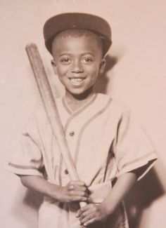 Vintage 1930's African American Black Child Baseball Studio Photograph. $199.99, via Etsy.