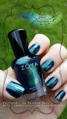 #Remy#zoya# beautiful blue#Zoya fall 2014#Excite and Ignite Collections#nail polish#5free