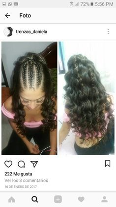 Trecce Super Hair Black Summer Ideas - All For Simple Hair Sweet 16 Hairstyles, Cool Braid Hairstyles, Work Hairstyles, Baddie Hairstyles, Trendy Hairstyles, Afro Hair Drawing, Curly Hair Styles, Natural Hair Styles, Hair Upstyles