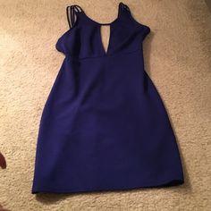 Blue key hole dress Worn once. Size L. Hugs curves. Short dress Dresses Mini