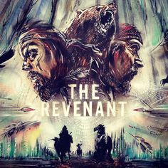 Tom Hardy and Leo Di Caprio in The Revenant - fan art by Paul Don Smith