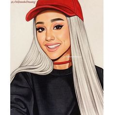 """I showed this to my boyfriend, and he laughed and said, """"Communism!"""" I looked at it again and said, """"I didn't even notice communism! I was laughing at the Tide one! Ariana Grande Anime, Ariana Grande Drawings, Ariana Grande Fans, Ariana Grande Wallpaper, Adriana Grande, Bff Drawings, Cartoon Girl Drawing, Celebrity Drawings, Digital Art Girl"""