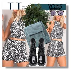 """""""Yoins !!"""" by dianagrigoryan ❤ liked on Polyvore featuring Nearly Natural, Prada, yoins, yoinscollection and loveyoins"""