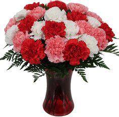 A worthy mention of our mixed carnation bouquet! - Carnations are one of the most popular flower types. With a rich history dating back thousands of years, the carnation flower is found in various colours. Red carnations are more popular during Val...
