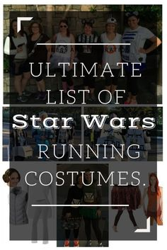 Ultimate List of Star Wars Running Costume Ideas - Ideas of Star Wars Outfits - Are you ready for the Run Disney Star Wars Half Marathon? Training & travel plans are important but don't forget about your Star Wars running costume. Disney Stars, Disney Star Wars, Run Disney Costumes, Disney Cosplay, Halloween Costumes, Halloween Ideas, Costume Star Wars, Disneyland Half Marathon, Disney Races