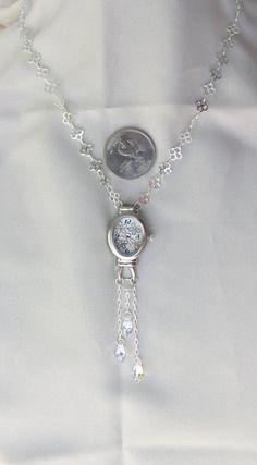 Springtime - Flower Necklace with Swarovski Crystals Flower Necklace, Crystal Necklace, Pink Flats, Watch Necklace, Metal Flowers, Jewelry Box, Jewellery, Shopping Mall, Happy Shopping