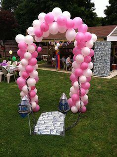 Princess balloon archway