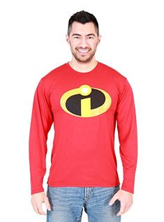 Disney The Incredibles Basicon Adult Red Long Sleeve Polyester T-Shirt (Adult Small) Disney Incredibles, Disney Disney, Amazon Clothes, Thing 1, Branded T Shirts, Movie Tv, Fashion Brands, Graphic Sweatshirt, Sweatshirts