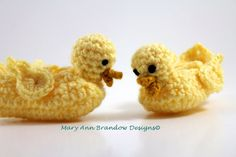 Little Duck Baby Booties by littlebits101 on Etsy