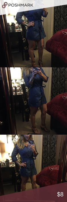 Denim dress Super cute... can be either a shirt or dress Dresses Long Sleeve