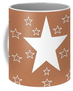 Coffee Mugs (11 oz.) of 'Texas Stars Forever' by Sumi e Master Linda Velasquez.