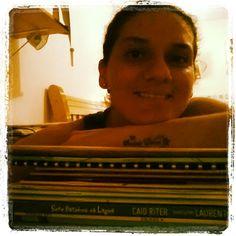 Amo estar com os livros!