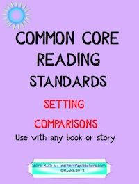 COMMON CORE! ELA RL.4.3 and RL.5.3 Ready to print student worksheets for comparing settings. Can be used with any stories or books. Student friendly rubric and five excerpts from books. priced item