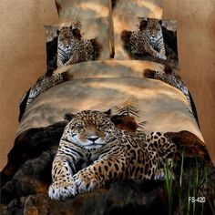 Leopard animal print bedding set king queen size duvet cover bed sheet bedspread bedsheet cotton home texile 100 Cotton Duvet Covers, Cotton Bedding Sets, Queen Comforter Sets, Comforter Cover, Queen Duvet, Leopard Print Bedding, Animal Print Bedding, Tribal Bedding, Animal Quilts