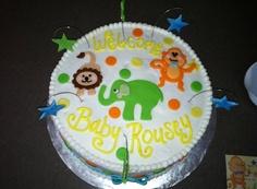 Fun Animal Themed Baby Shower Cake