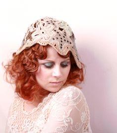 Bohemian Wedding hat 1920s hat Flapper Hat Bridal cap Woman hat Art ...
