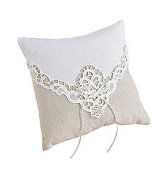 Lillian Rose® Country Lace Ring Pillow