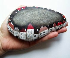 Painted Rock Fairy Garden Village