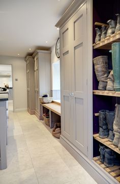 bespoke fitted bootroom with grey finish and large cupboards by lewis alderson heaven is just a few steps away.bespoke fitted bootroom with grey finish and large cupboards by lewis alderson are a few tasks Mudroom Laundry Room, Laundry Room Design, Mud Room Lockers, Mudrooms With Laundry, Mudroom Cubbies, Country Laundry Rooms, Large Laundry Rooms, Laundry Room Organization, Boot Room Utility